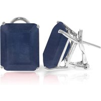 Octagon Cut Sapphire Earrings 14 ctw in 9ct White Gold