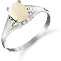 Opal and Diamond Desire Ring in 9ct White Gold