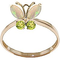Opal & Peridot Butterfly Ring in 9ct Gold - Fashion Gifts