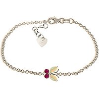 Click to view product details and reviews for Opal Ruby Adjustable Butterfly Bracelet in 9ct White Gold.