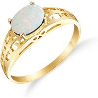 Opal Catalan Filigree Ring 0.45 ct in 9ct Gold - Fashion Gifts