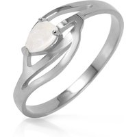 Click to view product details and reviews for Opal Pear Strand Ring 015 Ct in 9ct White Gold.