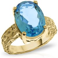 Oval Cut Blue Topaz Ring 8 ct in 9ct Gold