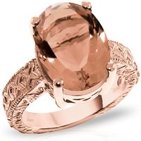 Oval Cut Citrine Ring 6.5 ct in 9ct Rose Gold