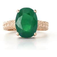 Oval Cut Emerald Ring 6.5 ct in 9ct Rose Gold