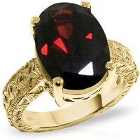 Oval Cut Garnet Ring 6 ct in 9ct Gold