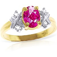 Oval Cut Pink Topaz Ring 0.97 ctw in 18ct Gold - Pink Gifts