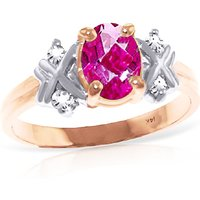 Oval Cut Pink Topaz Ring 0.97 ctw in 18ct Rose Gold - Pink Gifts