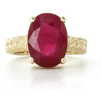Oval Cut Ruby Ring 8 ct in 9ct Gold