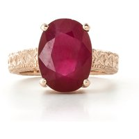 Oval Cut Ruby Ring 8 ct in 9ct Rose Gold