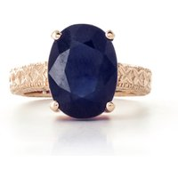 Oval Cut Sapphire Ring 8.5 ct in 9ct Rose Gold