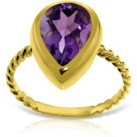 Pear Cut Amethyst Ring 2.5 ct in 18ct Gold