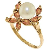 Pearl & Citrine Ivy Ring in 9ct Gold - Fashion Gifts