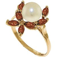 Pearl & Garnet Ivy Ring in 9ct Gold - Fashion Gifts