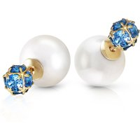 Pearl Double Shell Stud Earrings 69.85 ctw in 9ct Gold