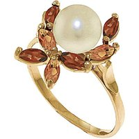 Pearl, Garnet & Citrine Ivy Ring in 9ct Gold - Fashion Gifts