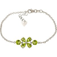 Peridot Adjustable Bracelet 3.15 ctw in 9ct White Gold