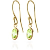 Peridot Allure Drop Earrings 1 Ctw In 9ct Gold