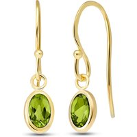 Image of Peridot Allure Drop Earrings 1 ctw in 9ct Gold