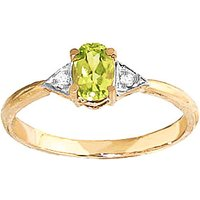 Image of Peridot & Diamond Allure Ring in 9ct Gold
