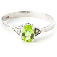 Peridot and Diamond Allure Ring in 9ct White Gold