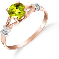 Peridot and Diamond Aspire Ring in 9ct Rose Gold