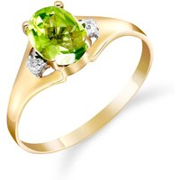 Peridot and Diamond Desire Ring in 9ct Gold