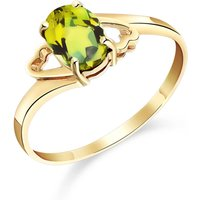 Peridot Classic Desire Ring 0.75 ct in 9ct Gold - Classic Gifts