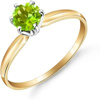 Peridot Crown Solitaire Ring 0.65 ct in 9ct Gold - Fashion Gifts