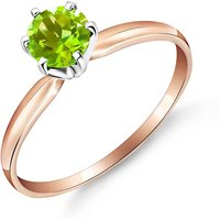 Peridot Crown Solitaire Ring 0.65 ct in 9ct Rose Gold