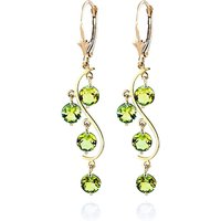 Peridot Dream Catcher Drop Earrings 4.95 ctw in 9ct Gold - Jewellery Gifts
