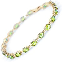 Peridot Infinite Tennis Bracelet 5.5 ctw in 9ct Gold