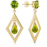 Peridot Kite Drop Earrings 2.4 ctw in 9ct Gold - Jewellery Gifts