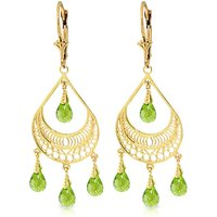 Peridot Mirage Drop Earrings 6.75 ctw in 9ct Gold - Jewellery Gifts