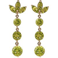 Peridot Petal Drop Earrings 8.7 ctw in 9ct Gold - Jewellery Gifts