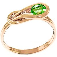 Peridot San Francisco Ring 0.65 ct in 9ct Rose Gold