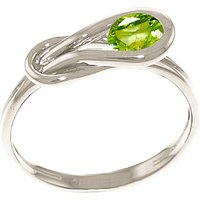Image of Peridot San Francisco Ring 0.65 ct in 18ct White Gold
