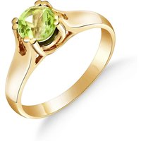 Peridot Solitaire Ring 1.1 ct in 9ct Gold - Fashion Gifts