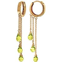 Peridot Trilogy Droplet Earrings 4.8 ctw in 9ct Gold - Jewellery Gifts