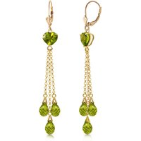 Peridot Vestige Drop Earrings 9.5 ctw in 9ct Gold - Jewellery Gifts