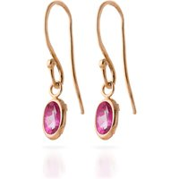 Pink Topaz Allure Drop Earrings 1 ctw in 9ct Rose Gold - Pink Gifts