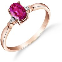 Pink Topaz & Diamond Allure Ring in 9ct Rose Gold - Pink Gifts
