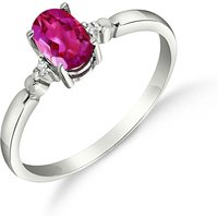 Pink Topaz & Diamond Allure Ring in Sterling Silver - Pink Gifts