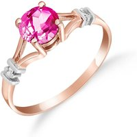 Pink Topaz & Diamond Aspire Ring in 18ct Rose Gold - Pink Gifts