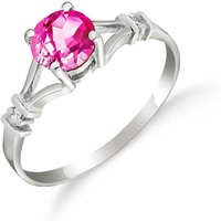Pink Topaz & Diamond Aspire Ring in Sterling Silver - Pink Gifts