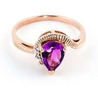 Pink Topaz & Diamond Belle Ring in 9ct Rose Gold - Diamond Gifts