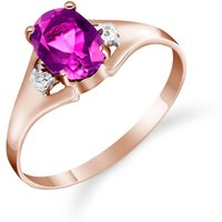 Pink Topaz & Diamond Desire Ring in 18ct Rose Gold - Pink Gifts