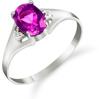 Pink Topaz and Diamond Desire Ring in 9ct White Gold