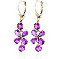 Pink Topaz Blossom Drop Earrings 5.32 ctw in 9ct Gold - Jewellery Gifts