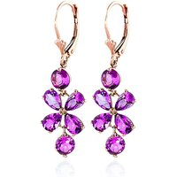 Pink Topaz Blossom Drop Earrings 5.32 ctw in 9ct Rose Gold - Pink Gifts